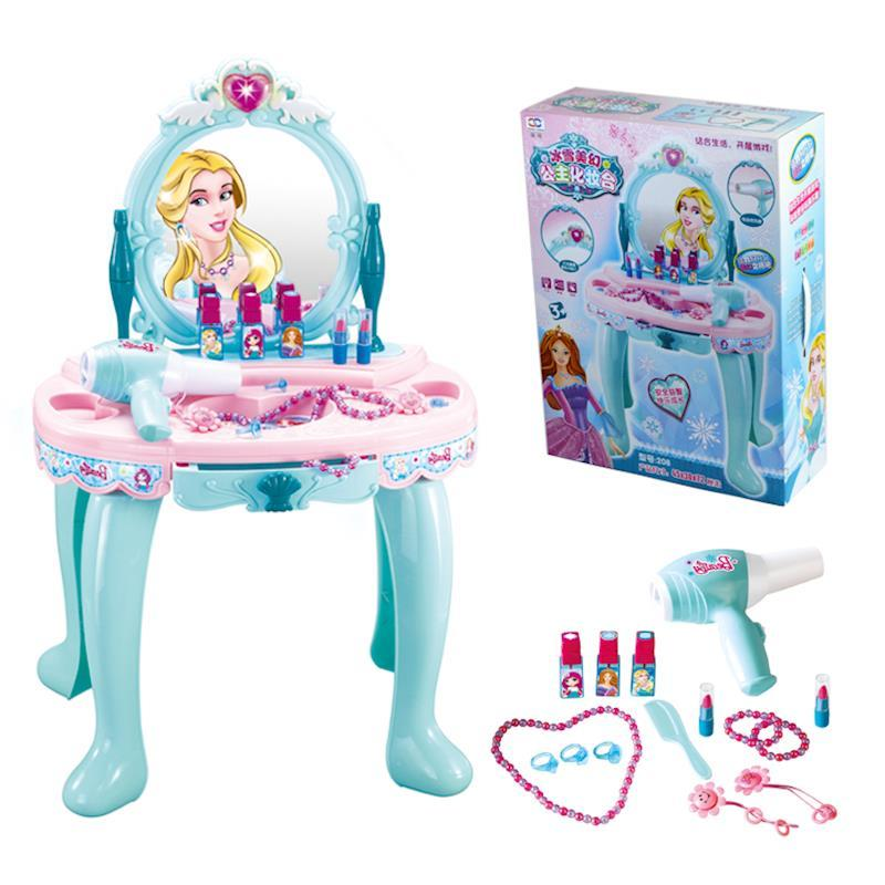 Children Electric Multifunction Make Up Set Toy Dressing Table For Girls