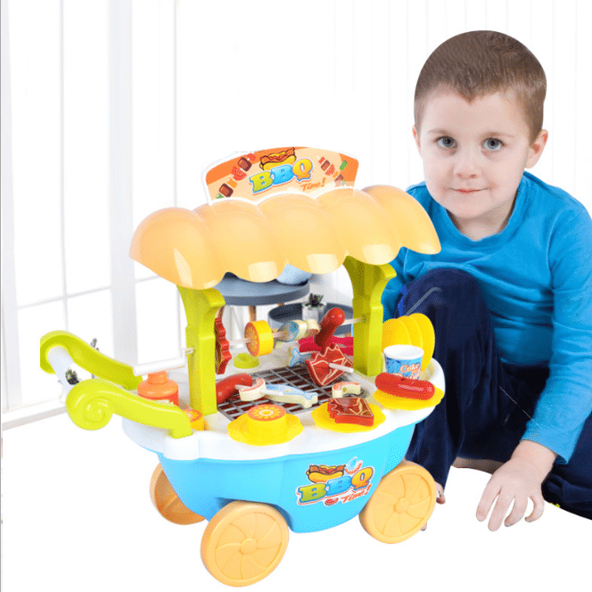 Plastic BBQ child toy pretend play kitchen toys for girls