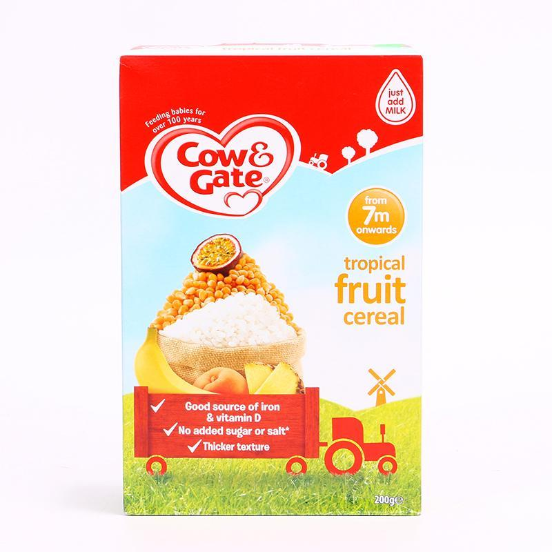 Cow & Gate Tropical Fruity Cereal, 200g, 7 Month Onwards, (Made In UA)