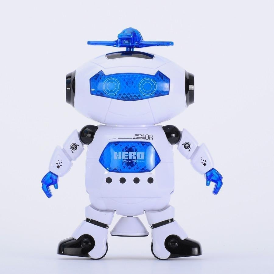 Battery operated plastic robot toys with light and music