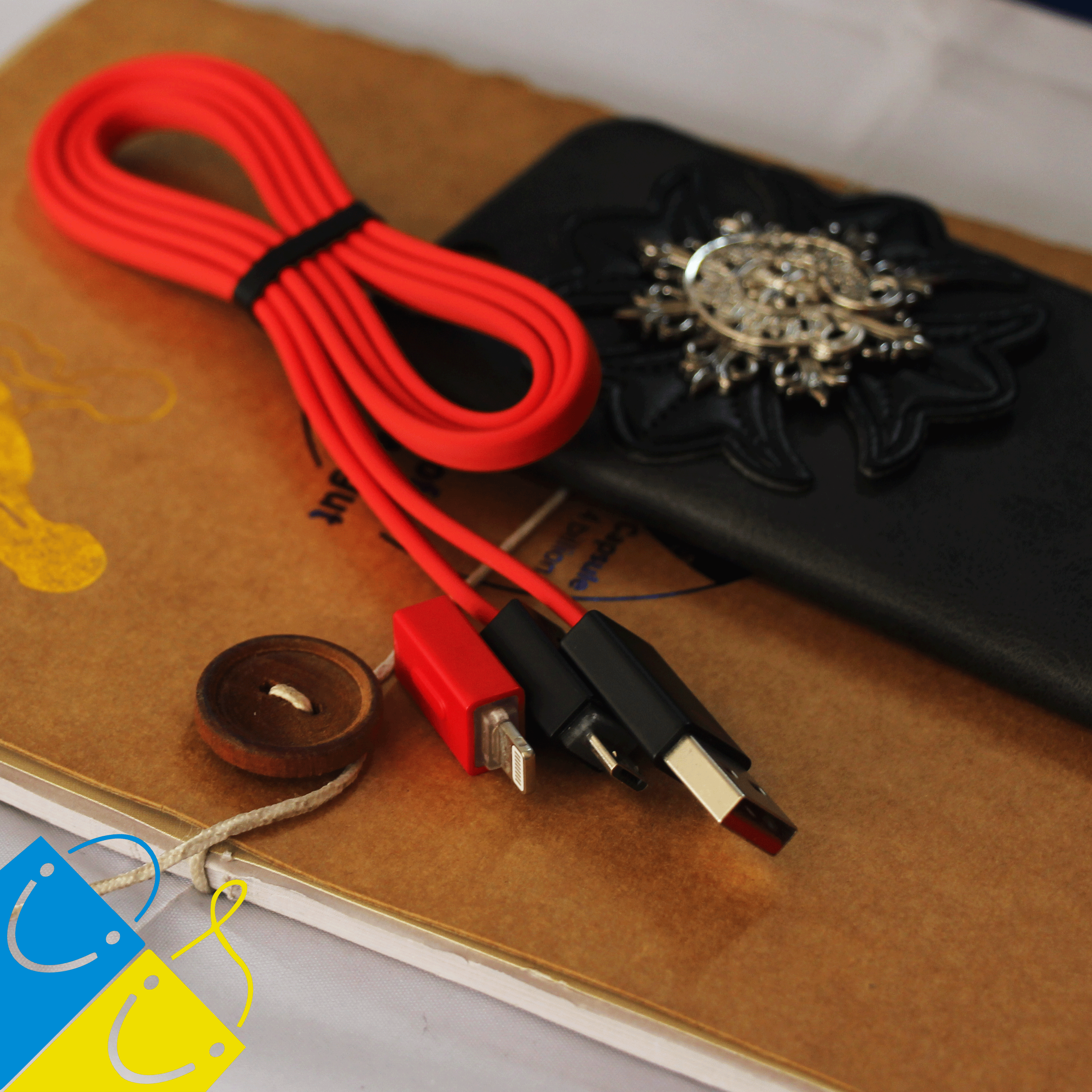 REMAX Shadow Magnet Adsorption 2 in 1 Data Cable RC-026t 1 Meter - Micro USB + iPhone Lightning