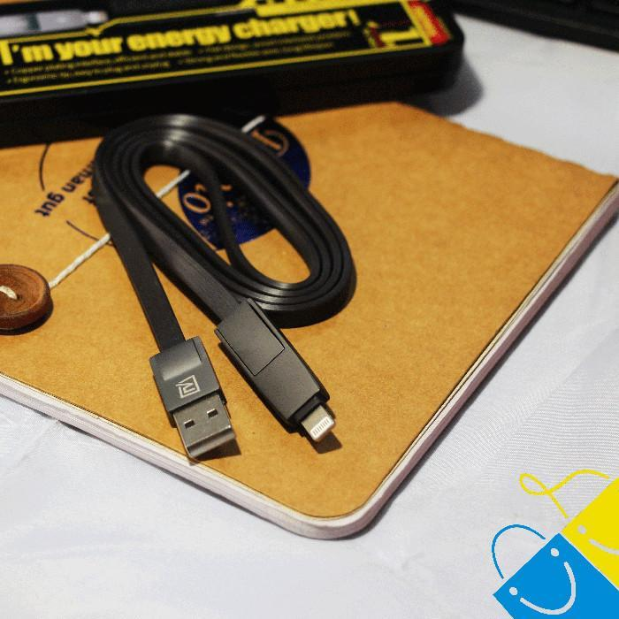 Data & Charger Cable Compatible with Both Android and IOS For Charging & Safe Data Transfer Material USB Cable 2-in-1